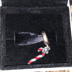 PANDORA Sterling Silver Candy Cane Charm RETIRED